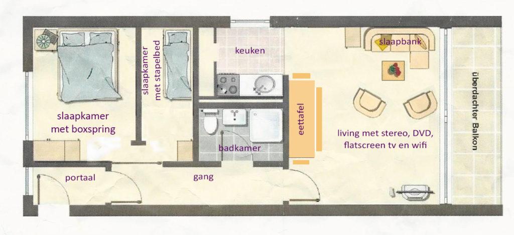 Vakantiehuisje Winterberg - plattegrond